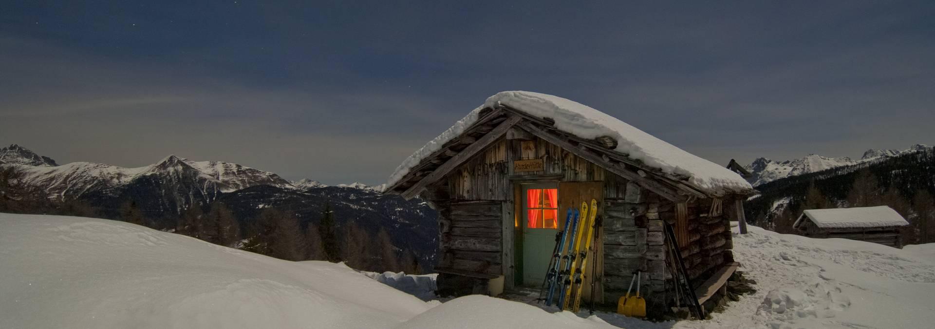 Hütte im Mondschein - Lesachtal