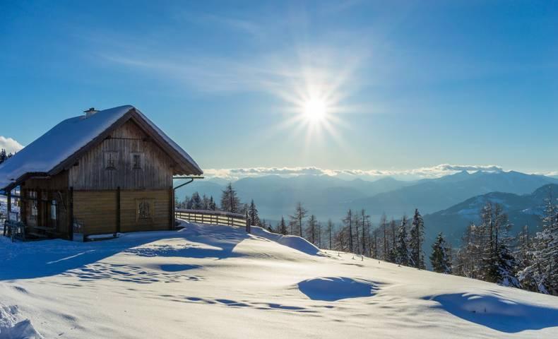 Winter in den Nockbergen auf der Nockalm
