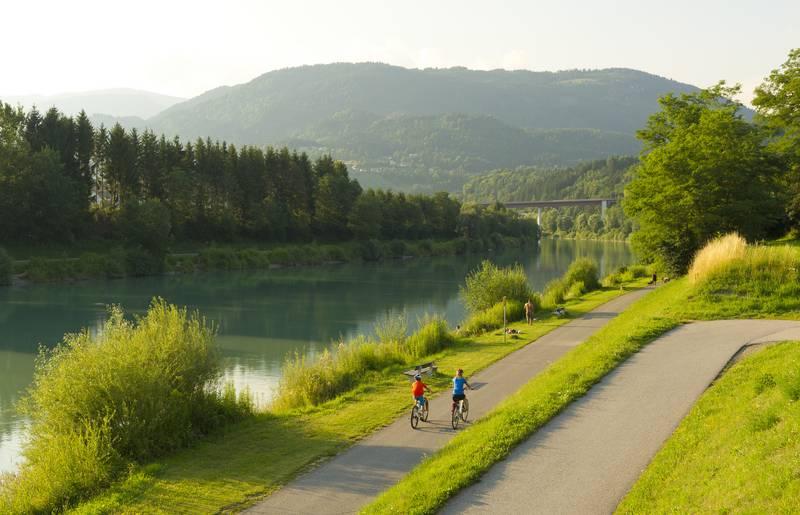 Drauradweg bei Villach