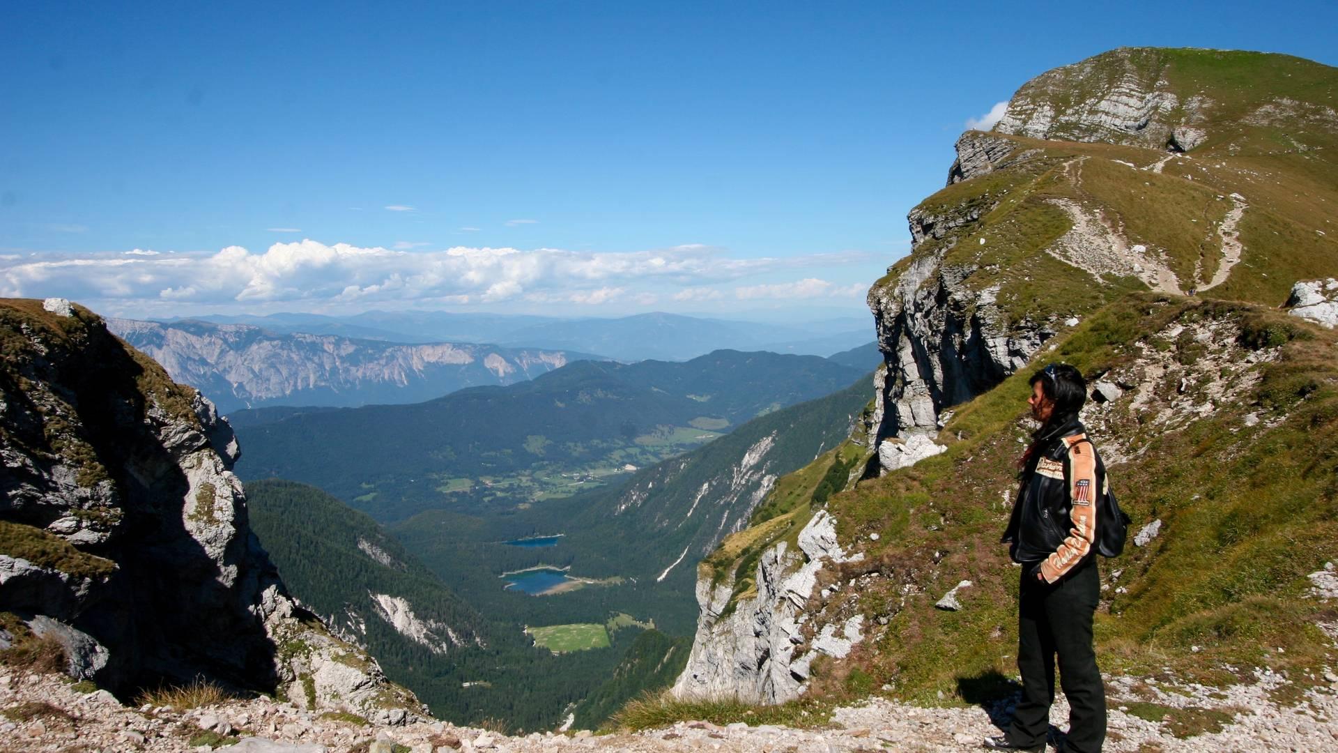 Blick auf die Weissenfelser Seen vom Mangart
