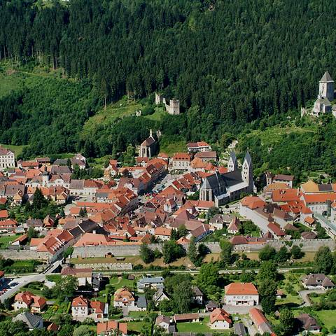 Foto Friesach Luftaufnahme